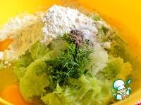 Оладьи из молодого кабачка с чесноком, мятой и соевым соусом Kikkoman ингредиенты
