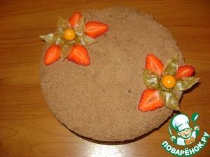 Рецепт Насыпной пирог с творожно-клубничной начинкой