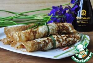 Рецепт Китайские яичные блинчики с начинкой