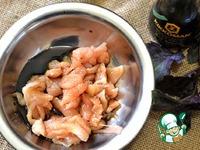 Закусочный острый салат с курицей ингредиенты