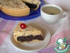 Рецепт Кекс с шоколадно-вишневой начинкой