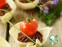 Корзиночки из лаваша с печеночным паштетом ингредиенты