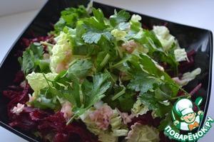 Как приготовить домашний рецепт с фото Салат с пекинской капустой и свёклой