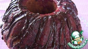 Рецепт Кекс клубничный с шоколадной глазурью