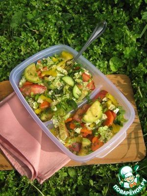 Рецепт Пикантный овощной салат
