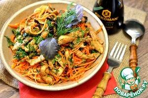 Рецепт Закусочный острый салат с курицей