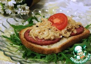 Рецепт Бутерброд с яблоком и хреном
