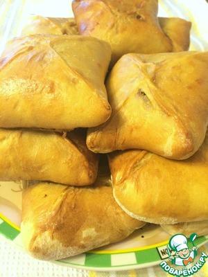 Рецепт Очень-очень-очень быстрые а-ля хачапури из пресного теста на сыворотке