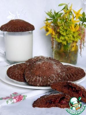 Рецепт Шоколадное печенье с вишней