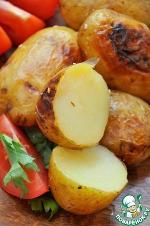 Рецепт Ароматный запеченный картофель с соевым соусом и лимонным соком