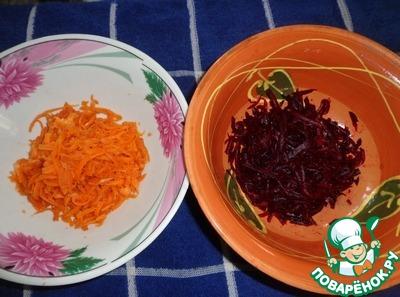 """Закуска из свеклы и моркови с земляникой и грецкими орехами """"Летний сюрприз"""" вкусный рецепт приготовления с фото пошагово готовим #1"""