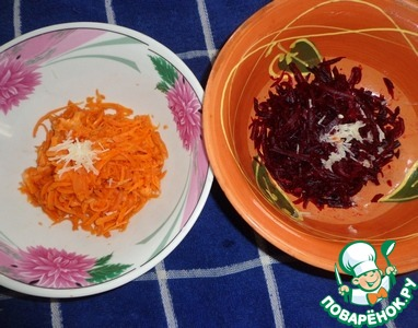 """Закуска из свеклы и моркови с земляникой и грецкими орехами """"Летний сюрприз"""" вкусный рецепт приготовления с фото пошагово готовим #2"""