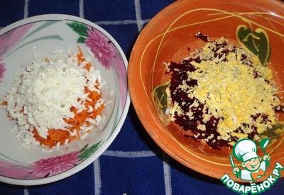 """Закуска из свеклы и моркови с земляникой и грецкими орехами """"Летний сюрприз"""" вкусный рецепт приготовления с фото пошагово готовим #3"""
