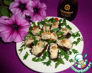 Рецепт Фаршированные финики с соевым соусом, сыром и грецкими орешками
