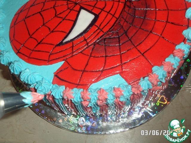 Торт человек паук из мастики пошагово