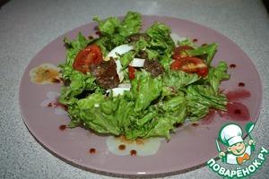 Рецепт Салат из куриной печени с кисло-сладким соусом