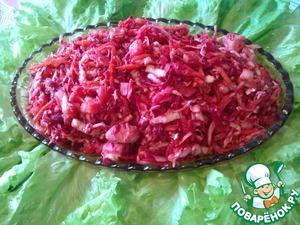 Рецепт Салат овощной с мясом курицы