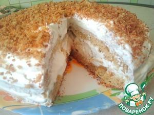 Рецепт Торт манник с персиками