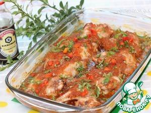 Рецепт Куриные крылышки в остром томатно-яблочном маринаде