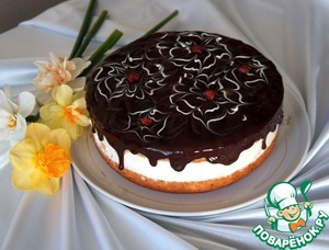 Рецепт Простой торт с нежнейшим творожным кремом