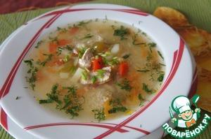 Готовим простой рецепт с фотографиями Овощной суп с курочкой и кус-кусом