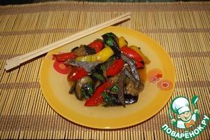 Рецепт Закуска из баклажан с говяжьим сердцем