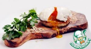 Рецепт Закусочные бутерброды с семгой и яйцом-пашот
