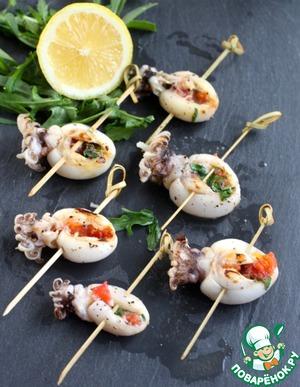 Рецепт Молодые фаршированные каракатицы на гриле