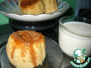 """Рецепт Паровые кексики-пышечки с конфетами """"коровка"""""""