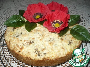 Рецепт Творожной пирог с маковыми шариками