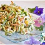 Салат из крабовых палочек с яйцом