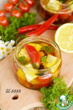 Рецепт Сыр маринованный с овощами