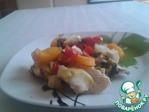 Куриная грудка под овощами домашний рецепт приготовления с фото пошагово готовим
