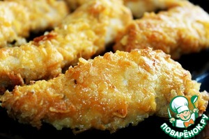 Рецепт Курица в панировке из чипсов
