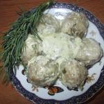 Мясные ёжики в сметанном соусе