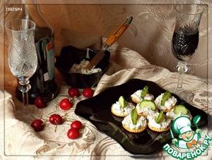 Рецепт Закуска из сыра на крекерах