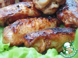 Рецепт Куриные крылышки в пряном маринаде