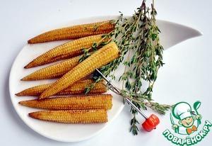 Рецепт Жареная мини-кукуруза