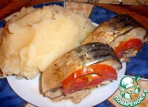 Рецепт Скумбрия с помидорами, запеченная в фольге