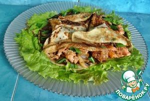 Рецепт Блинчики с лососем по-восточному