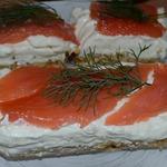 Чизкейк с семгой и творожным сыром
