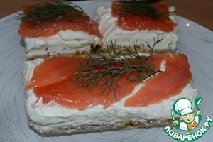Рецепт Чизкейк с семгой и творожным сыром