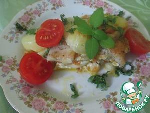 Рецепт Слоеная запеканка с морским языком (пангасиусом)