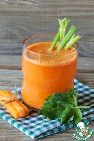 Рецепт Сок из моркови и сельдерея