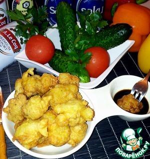 Рецепт Куриные сердечки в сырном кляре