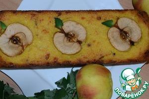 Рецепт Киккомановский яблочно-кукурузный кекс с сыром, луком и соевым соусом