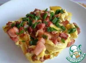 Рецепт Земниеку брокастис ( крестьянский завтрак)