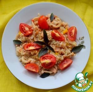 Паэлья с кальмарами рецепт с фото готовим