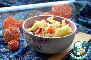 Рецепт Теплый средиземноморский салат с коричневым рисом и цветной капустой