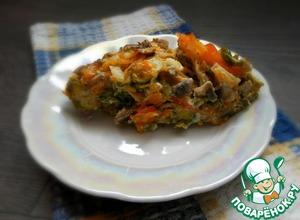 Рецепт Запеканка из брюссельской капусты с шампиньонами
